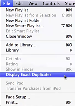 iTunes - Delete duplicates