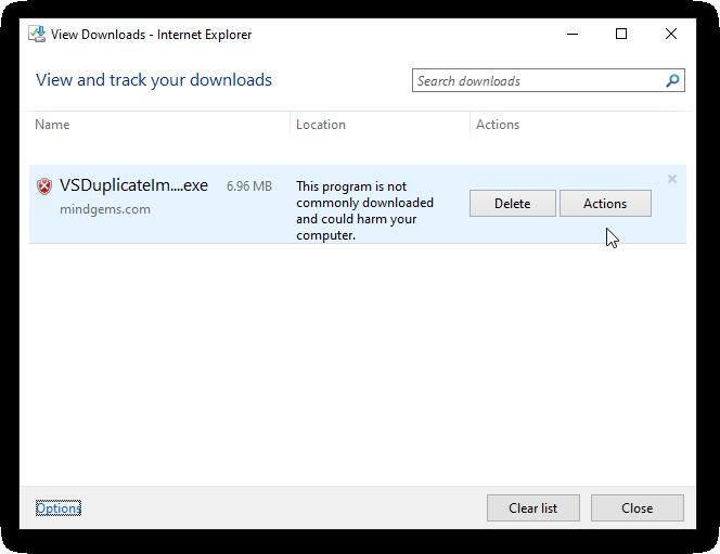 Windows Smart Screen Downloads Blocked