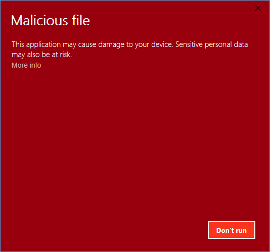 Windows Defender Smart Screen Incorrect Detection