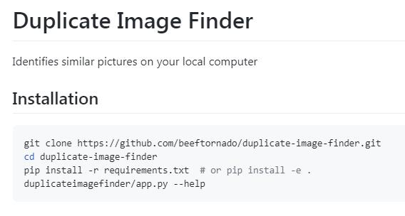 Beeftornado Duplicate Image Finder