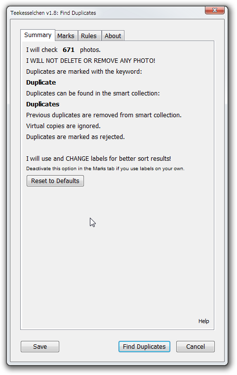 LR Duplicate Finder Summary