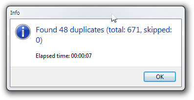 Duplicate Cleaner Results Summary