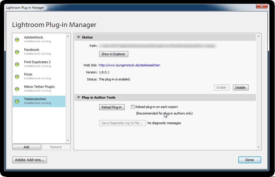 Lightroom Duplicate Finder Plugin Settings