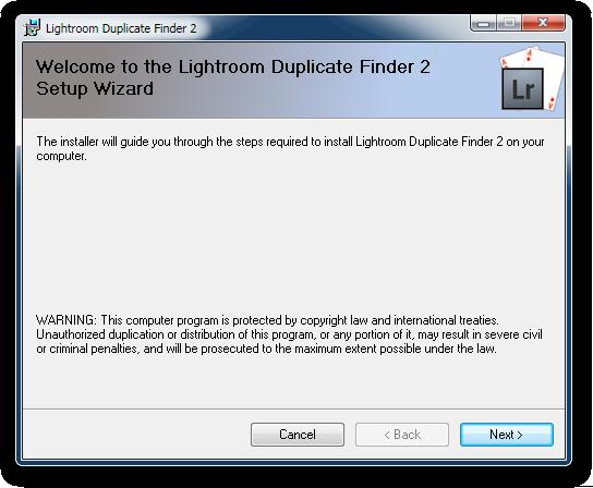 Lightroom Duplicate Finder Plugin Installer