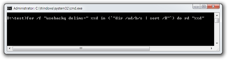 Delete Empty Folders Command Line