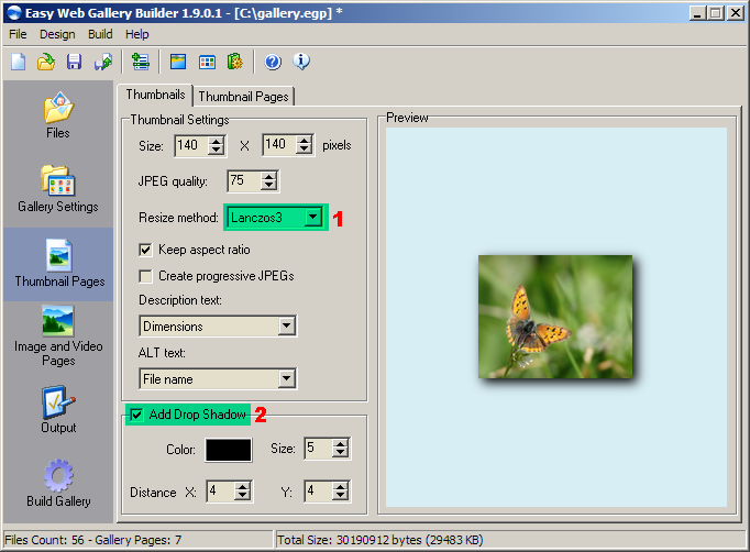 Create Image Galleries With Thumbnails