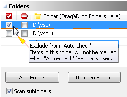 Exclude From Auto-Check (Auto-Mark)